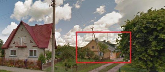Google Street View nuotr./Namas Ariogaloje, kuris sudegė