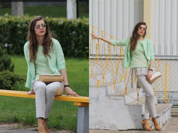 Stiliaus tinklaraštininkės Modevi nuotr./Modevi pavasarinis įvaizdis: spalvingų drabužių deriniai