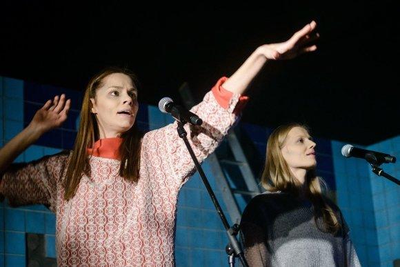 "Lauros Vansevičienės nuotr./Elžbieta Latėnaitė spektaklyje ""Europiečiai"""