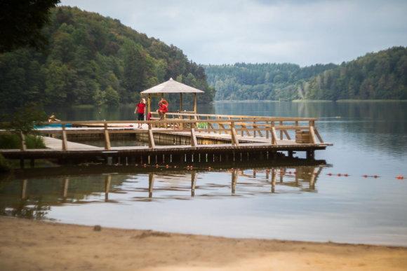 S.Žiūros nuotr./Žaliųjų ežerų paplūdimys
