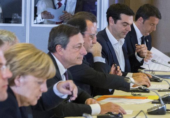 """""""Scanpix"""" nuotr./Euro zonos viršūnių susitikimas"""