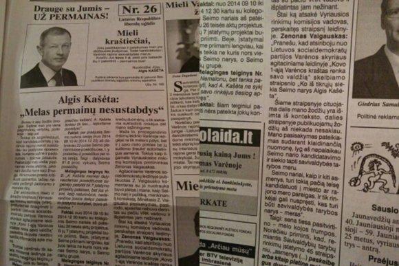 15min.lt/Zenonas Vaigauskas davė interviu Varėnos socialdemokratų agitaciniam leidiniui, vėliau nuo jo atsiribojo