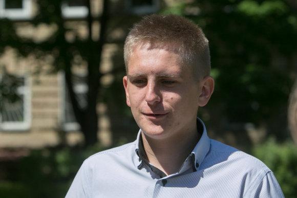 Juliaus Kalinsko/15min.lt nuotr./Robertas iš J.I.Kraševskio gimnazijos