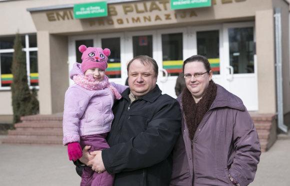 Luko Balandžio/Žmonės.lt nuotr./Agnė su šeima