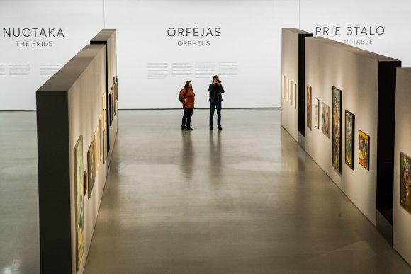 Luko Balandžio / 15min nuotr./Algio Skačkausko kūrybos retrospektyva Nacionalinėje dailės galerijoje