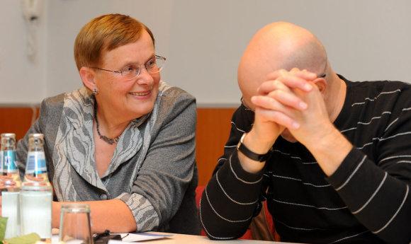 Luko Balandžio nuotr./Prof. Viktorija Daujotytė-Pakerienė ir Viktoras Gerulaitis