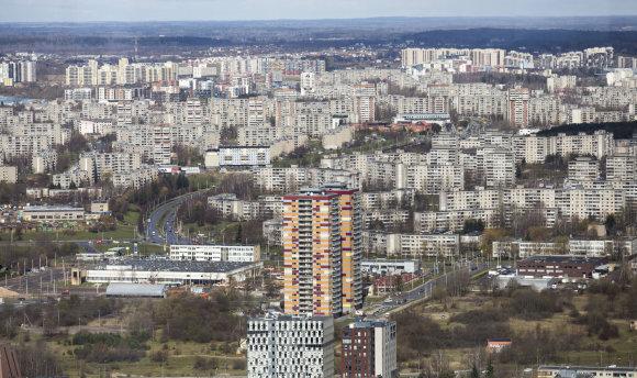 Luko Balandžio/15min.lt nuotr./Vaizdas iš Vilniaus TV bokšto