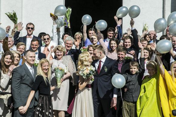 Viganto Ovadnevo/Žmonės.lt nuotr./Giedriaus Titenio ir Armintos Samuilytės vestuvės