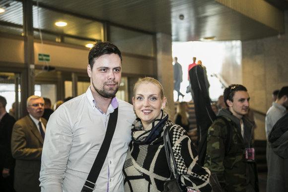 Viganto Ovadnevo/Žmonės.lt nuotr./Rolandas Damijonaitis, Rūta Ščiogolevaitė-Damijonaitienė
