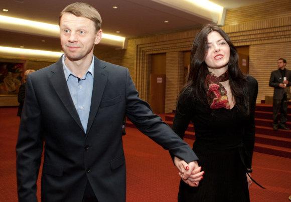 Gretos Skaraitienės/Žmonės.lt nuotr./Rolandas Kazlas su žmona Sigita