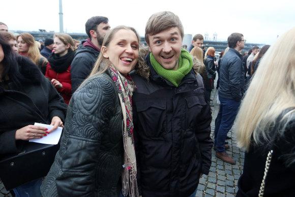 Teodoro Biliūno/15min.lt nuotr./Marius Žičius su žmona Monika