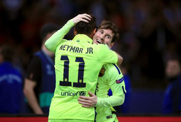 """Scanpix"" nuotr./Neymaras ir Lionelis Messi"