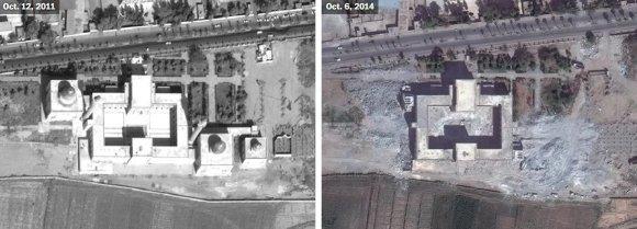 US Department of State, Humanitarian Information Unit, NextView License (DigitalGlobe) nuotr./Istorinis Rakos miestas