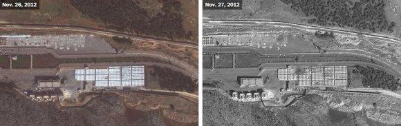 US Department of State, Humanitarian Information Unit, NextView License (DigitalGlobe) nuotr./Bab al-Hawa sienos perėjimo punktas prie sienos su Turkija