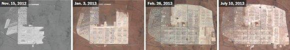 US Department of State, Humanitarian Information Unit, NextView License (DigitalGlobe) nuotr./Al-Zaatari pabėgėlių stovykla Jordanijos šiaurėje