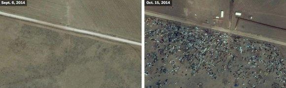 US Department of State, Humanitarian Information Unit, NextView License (DigitalGlobe) nuotr./Kobanė