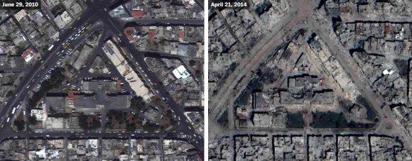 US Department of State, Humanitarian Information Unit, NextView License (DigitalGlobe) nuotr./Homso ligoninė