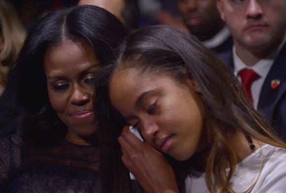 """AFP/""""Scanpix"""" nuotr./Baracko Obamos atsisveikinimo kalba"""