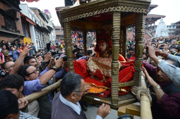 "AFP/""Scanpix"" nuotr./Katmandu ""gyvoji deivė"""
