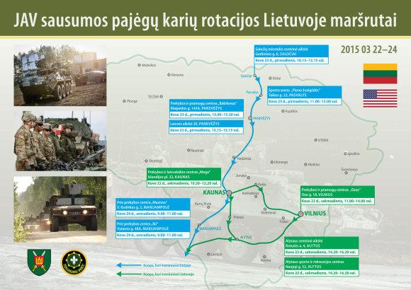 KAM nuotr./NATO karių žygis per Lietuvą