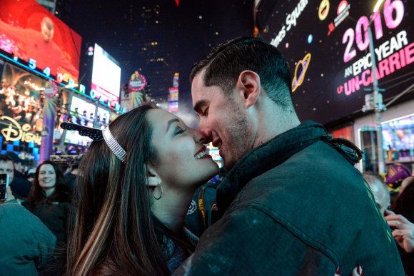 """Reuters""/""Scanpix"" nuotr./Naujieji metai Niujorke, JAV"