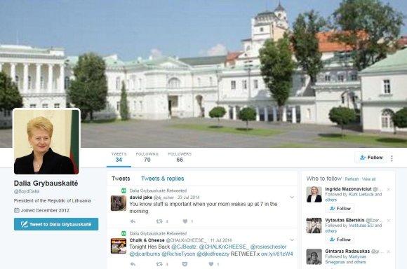Netikra D.Grybauskaitės paskyra