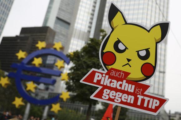 """Reuters""/""Scanpix"" nuotr./Protestas prieš TTIP"