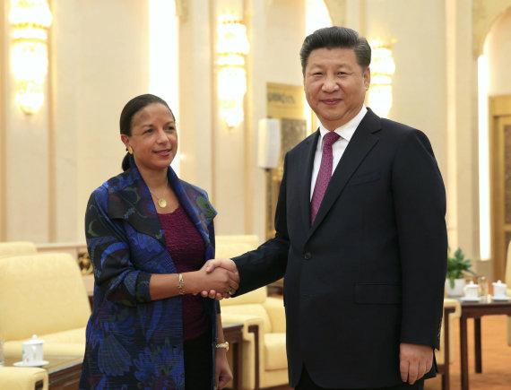 """Reuters""/""Scanpix"" nuotr./Susan Rice su Kinijos prezidentu Xi Jinpingu"