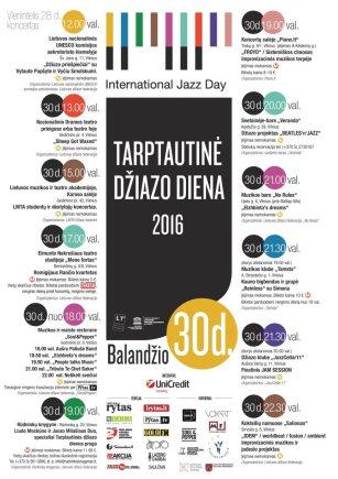 Tarptautinė džiazo diena 2016