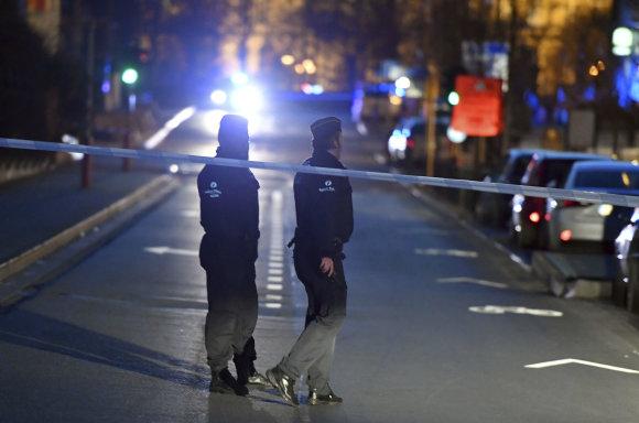 """""""Scanpix""""/AP nuotr./Saugumo operacija Briuselyje"""