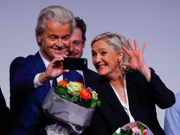 """Reuters""/""Scanpix"" nuotr./Geertas Wildersas, Marine Le Pen"