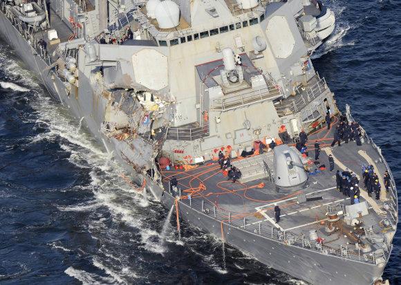 """""""Scanpix""""/AP nuotr./Minininkas """"USS Fitzgerald"""""""