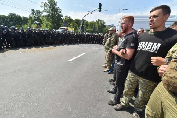 "AFP/""Scanpix"" nuotr./Gėjų paradas Kijeve"