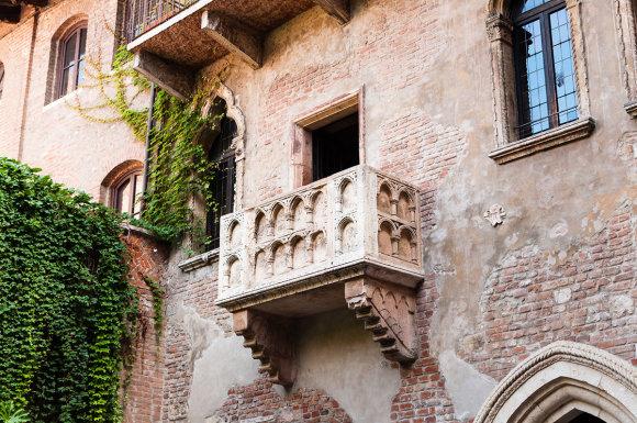 Shutterstock.com nuotr./Džiuljetos balkonas