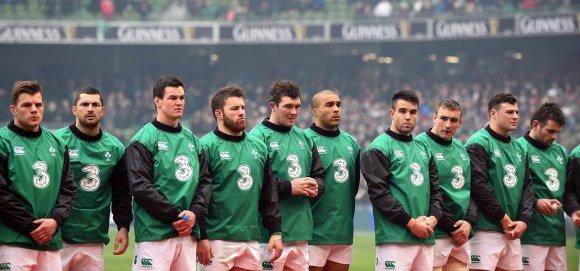 """AFP/""""Scanpix"""" nuotr./Airijos regbio rinktinė"""