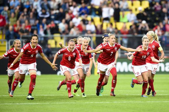 """""""Scanpix""""/AP nuotr./Danijos moterų futbolo rinktinė"""
