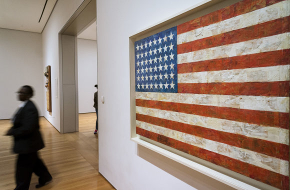 "Vida Press nuotr./Jasper Johns ""Flag"""