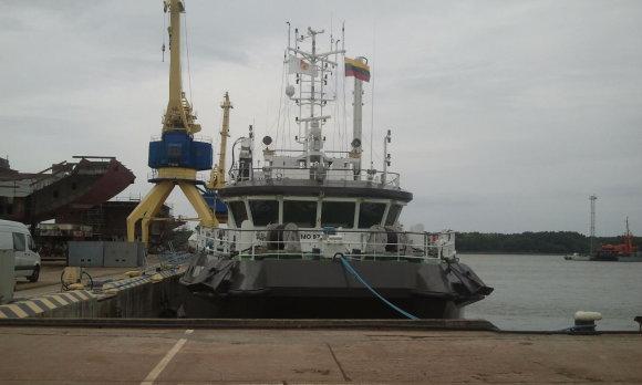 L. Sėlenienės nuotr. /Į jūrą Nyderlandų kompanija išplukdo 6,5 tonos įrangos