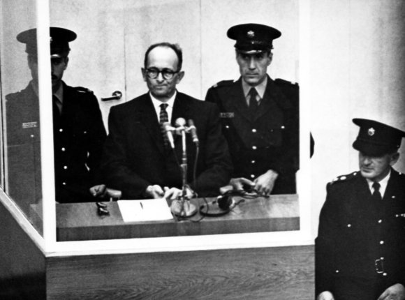 Vida Press nuotr./Adolpho Eichmanno teismas,  1961 m. balandžio 11 d.
