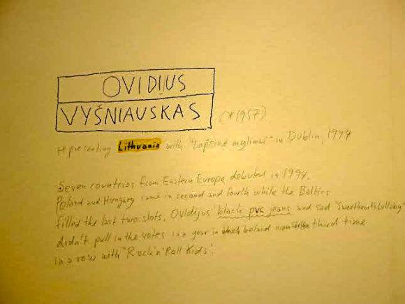 Žmonės.lt skaitytojo nuotr./Texo Rubinowitzo parodoje Vienoje prisimintas ir Ovidijus Vyšniauskas