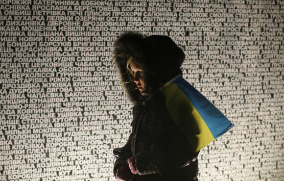 """""""Reuters""""/""""Scanpix"""" nuotr./Holodomoro aukų pagerbimas Kijeve, 2014 metais."""