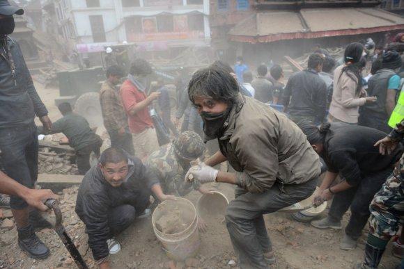 """AFP/""""Scanpix"""" nuotr./Nepalas po stipraus žemės drebėjimo"""