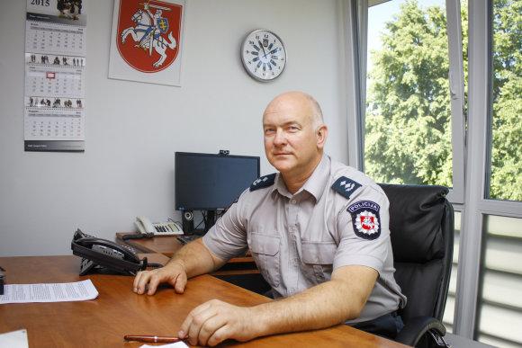 Justinos Butkutės/15min.lt nuotr./Palangos miesto policijos komisariato viršininkas Alvydas Katkausas