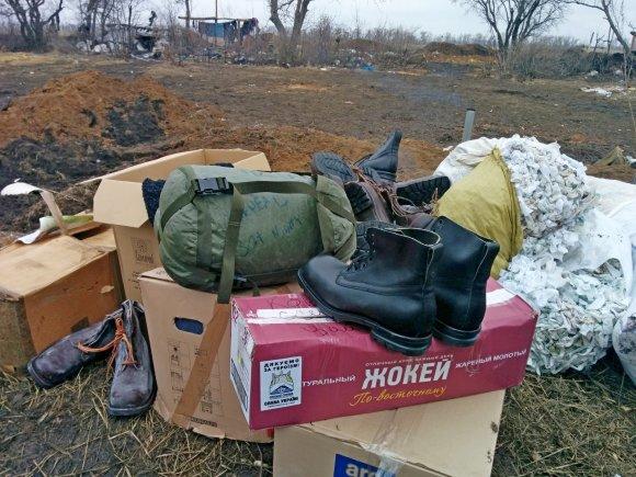 Dovydo Pancerovo nuotr./Rėmėjų parama Ukrainos kariams, fronto linijoje prie Luhansko