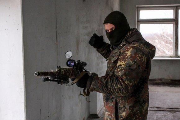 """Ukrainos VRM specialiosios paskirties bataliono """"Tornado"""" snaiperis"""