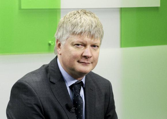 Valdo Kopūsto / 15min nuotr./15min studijoje – paskirtasis aplinkos ministras Kęstutis Navickas