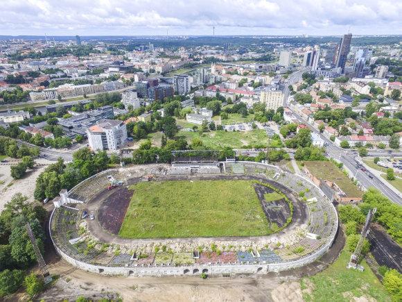 """Irmanto Gelūno / 15min nuotr./""""Žalgirio"""" stadionas toks, kokio jau niekada nepamatysime."""