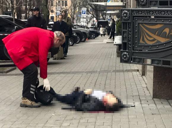 """""""Scanpix""""/AP nuotr./Kijevo centre nužudytas buvęs Rusijos Valstybės Dūmos deputatas Denisas Voronenkovas"""