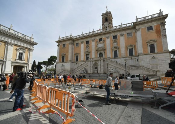 """""""Scanpix""""/""""SIPA"""" nuotr./Roma ruošiasi priimti jubiliejinį ES viršūnių susitikimą"""