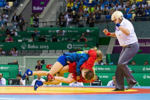 Vytauto Dranginio/LTOK nuotr./Sambo imtynininkė Rūta Aksionova iškovojo Europos žaidynių bronzos medalį